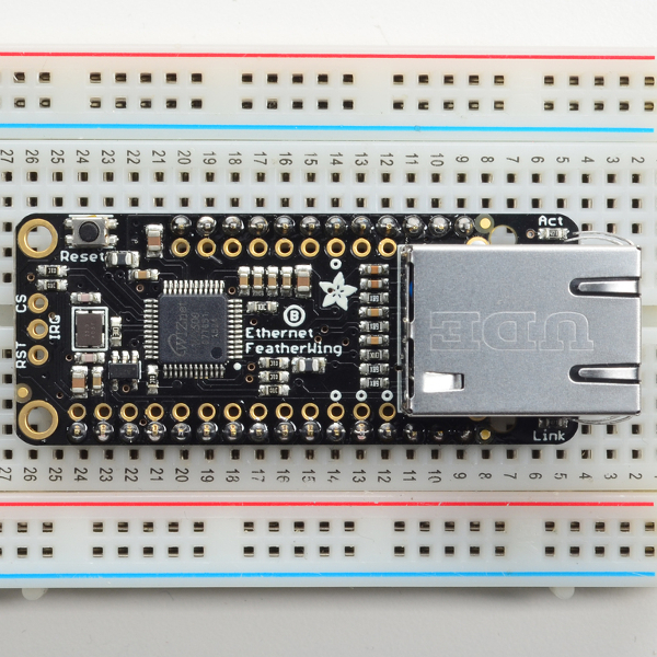 Ethernet FeatherWing - Ethernet контролер за Adafruit Feather платки