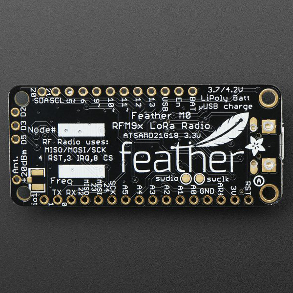Adafruit Feather M0 with RFM95 LoRa Radio - Ардуино с LoRa модул, 868MHz