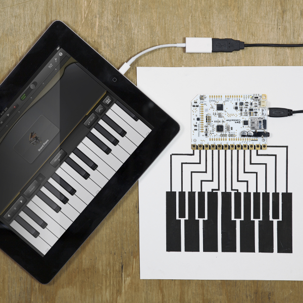 Bare Conductive Touch Board - Ардуино съвместима платка, MP3 decoder, Touch IC MPR121 и др.
