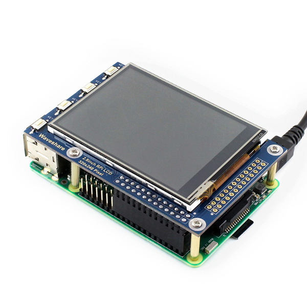 "2,8"" TFT Touch дисплей за Raspberry Pi, WaveShare"