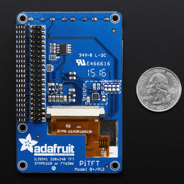 2,8'' TFT Touch дисплей за Raspberry Pi - PiTFT Plus, Adafruit