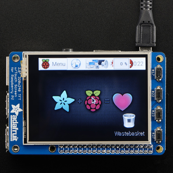 2,8'' TFT Touch дисплей за Raspberry Pi - PiTFT Plus
