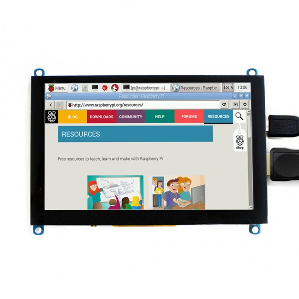 "Дисплей 5"", 800x480, IPS, HDMI, капацитивен USB Touch screen"