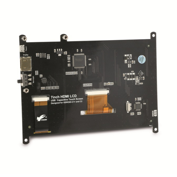 "ODROID-VU7 Plus - дисплей 7"" за ODROID, 1024x600, HDMI, капацитивен USB Touch screen"