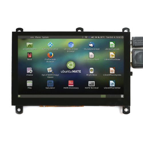 "ODROID-VU5 - дисплей 5"", 800x480, HDMI, капацитивен USB Touch screen"