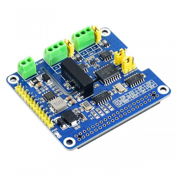 2-Channel Isolated CAN FD Expansion HAT for Raspberry Pi