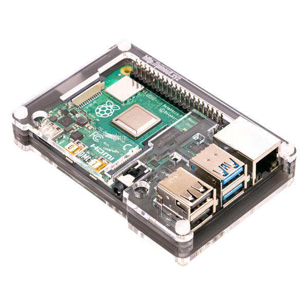 Кутия за Raspberry Pi 4 - Pimoroni Pibow Coupé 4 Ninja