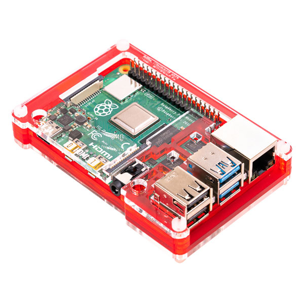 Кутия за Raspberry Pi 4 - Pimoroni Pibow Coupé 4 Red